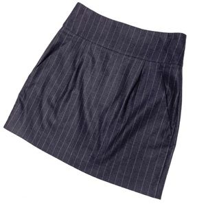 Pinstripe Wool Skirt